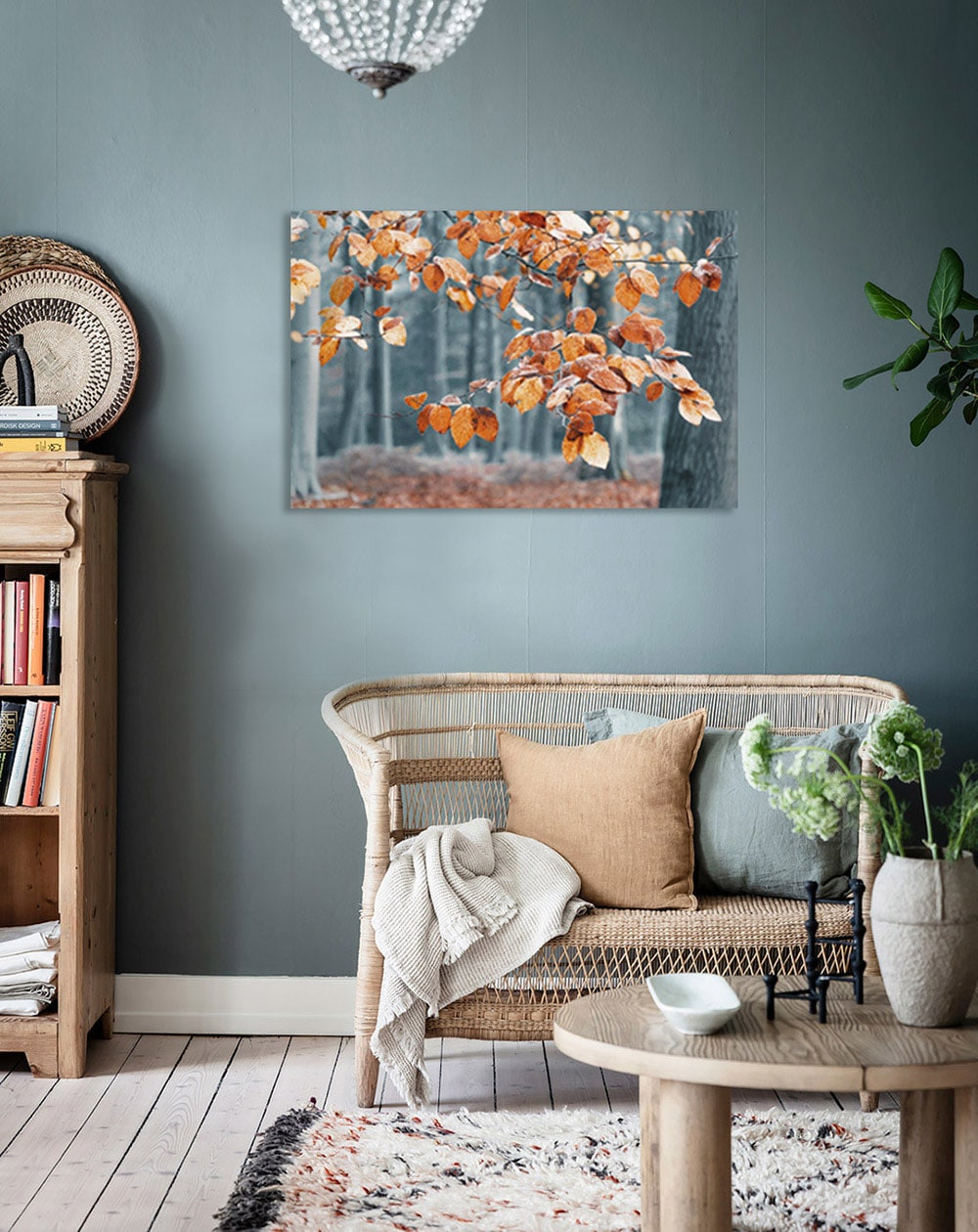 Forest wall art canvas example